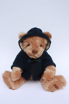"BURBERRY Fragrance Plush Stuffed Teddy Bear Hooded Jacket 2009 13"" EUC #Burberry #AllOccasion"