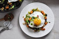 Brussel spout breakfast hash