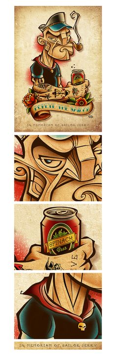 Popeye The Sailor by Antonio de Padua Neto78, via Behance