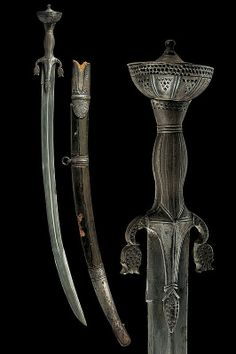 A poular with scabbard -  mid-19th Century.  India