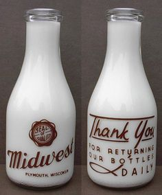"""""""Glass milk bottles of the are a great source of typographic styles, representative of an era which has long become part of the American culture. Old Milk Bottles, Vintage Milk Bottles, Milk Cans, Antique Bottles, Bottles And Jars, Glass Bottles, Juice Packaging, Bottle Packaging, Dairy Packaging"""