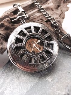 Personalized Black Pocket watch Engravable Mechanical Mens Watch Gift For Him Personalized Groomsmen Gifts VM026