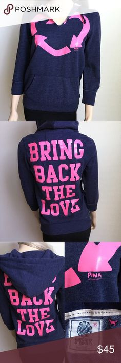 Victoria Secret Pink Recycle Love Sweater💖♻️ Victoria Secret Pink Recycle Love Sweater💖♻️ Size XS, worn once for winter in California☀️ is in great condition, fabric is really soft, no cracking in letters, no stains and no tears. This sweater was worn once with leggings and ugg boots. I need some space in my closet that's why I'm selling it. Could fit a size small as well since pink clothing tends to run a size up. Has front pocket pouch and is quarter sleeve. All things from my closet…