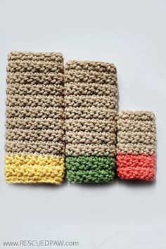 FREE Dishcloth Crochet Patterns and Printable Tags From Rescued Paw