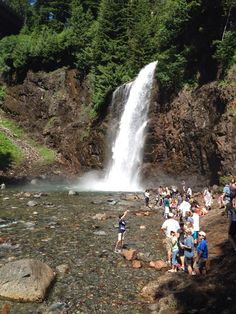 Franklin Falls Trail is a nice hike for families. The trails are well groomed and easy to navigate. The trail ends at a beautiful waterfall. Getting down to the fall requires you to take your time and focus but its doable for most.