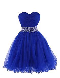 Tidetell 2015 Strapless Royal Blue Homecoming Beaded Short Prom Dresses Ball Gowns http://www.amazon.com/dp/B00R3WR038/ref=cm_sw_r_pi_dp_riLovb1HDG8EV
