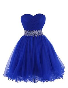 Tidetell 2015 Strapless Royal Blue Homecoming Beaded Short Prom Dresses Ball Gowns http://www.amazon.com/dp/B00R3WR038/ref=cm_sw_r_pi_dp_riLovb1HDG8EV