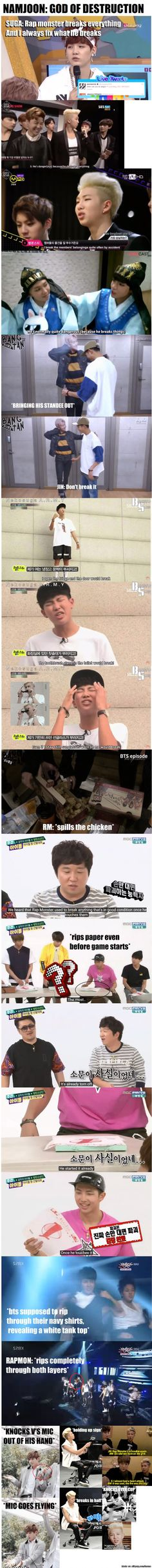 this had to be made... a compilation of namjoonie breaking everything xD <3 | allkpop Meme Center