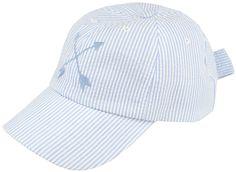 Pointe Prep Cap in Light Blue Seersucker by Lauren James #$0-to-$50