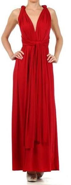 Convertible Maxi Dress INFINITY WRAP SILKY