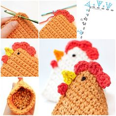 "<input class=""jpibfi"" type=""hidden"" ><p>You may like this chick-chick-chick crochet chicken pattern for your Easter decoration or little guests treatment (Source). It is pyramid shaped that can be seated well, and cute enough to catch kids' eyes for playing. Materials you may need 3 colors worsted weight cotton yarn, small amount of black yarn or …</p>"