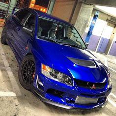 electric blue evolution 9 - Mitsubishi Evo 9 Blue