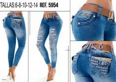 Jean push-up 5954