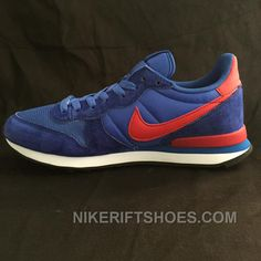 sale retailer c8206 6be87 Online 2015 Cheap Nike Internationalist Running For Womens On Sale Navy  Blue Red, Price   85.00 - Nike Rift Shoes