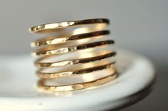 THICK BAND Simplicity open band 14K gold filled wire by muyinmolly, $60.00