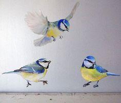 Set of 3 Birds Wall Decal Bird Birds Wall par PetiteNatureDecals