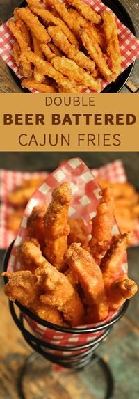 Double Beer Battered Cajun Fries