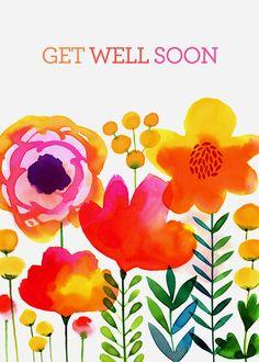 Margaret Berg Art: Meadow+Flowers+Get+Well+Soon