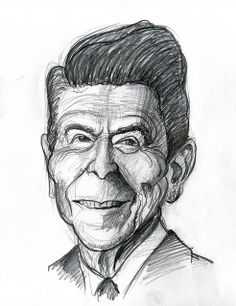 Ronald Reagan, 40th President of the United States 1981-1989.