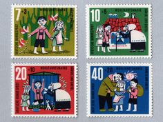 Vintage fairytale stamp collection from Present and Correct | Deer Brains