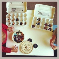 Good idea to use egg cartons for sorting, crafts, organization etc