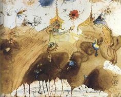Salvador Dali, The Mountains of Cape Creus on the March