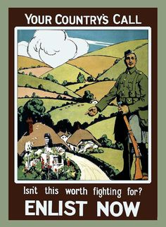 British WWI Recruiting Poster.