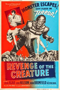 Pop Culture Safari!: Vintage movie poster: Revenge of the Creature