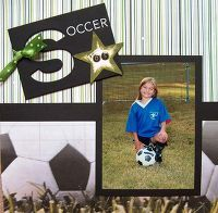 Gallery Projects - Scrapbooking - Sports - soccer - 12x12 - Two Peas in a Bucket