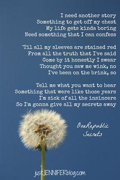"OneRepublic ""Secrets"" lyrics"