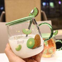 Cute Avocado, Cute Water Bottles, Kawaii Room, Cute Cups, Foto Baby, Cute Kitchen, Cool Mugs, Bubble Tea, Aesthetic Food