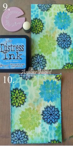 Fun (and easy) mixed media tutorial (and a couple cards) from Amber Hight.