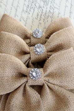 Beautiful. Burlap and bling. Who would have thought?