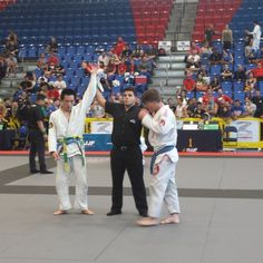 Byung Ju Lee wins the Blue Belt lightweight division with a 6-0 victory. #ibjjf #bocaratonopen