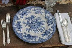 This Johnson bros plate is fine china, its a different style than you pinned but when doing mix and match china you don't want them all to be just banded around edge