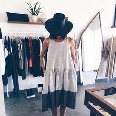 Monochromatic dress.