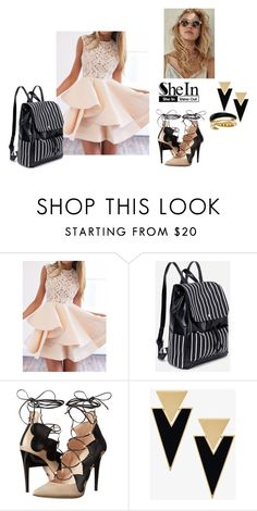 """""""Shein contest"""" by biserapolyvore ❤ liked on Polyvore featuring Ruthie Davis, Yves Saint Laurent and Michael Kors"""