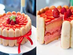strawberry, cake, and dessert image Food Cakes, Cupcake Cakes, Fruit Cakes, Cupcakes, Strawberry Birthday Cake, Strawberry Shortcake Party, Yummy Drinks, Delicious Desserts, Yummy Food