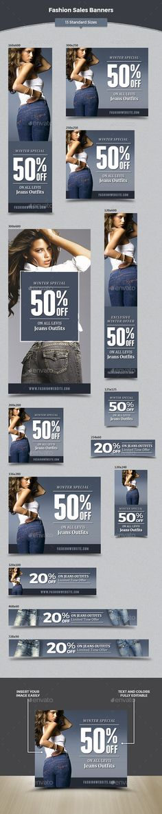 Fashion Sales Banners - Banners & Ads Web Elements