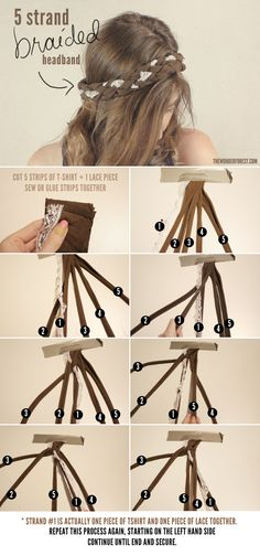 5 Strand Braided Headband Tutorial | Wonder Forest: Design Your Life.
