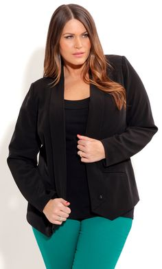 City Chic MISS CAREER JACKET - Plus Size Fashion