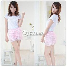 Hot Sell Safety Women Fashion 8 Layers Lace Shorts Pant Trousers Leggings DZ88 | eBay