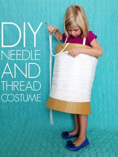 This DIY Needle and Thread Costume is totally green and Totally Cute! If you are looking for a last-minute Halloween costume to create yourself this is it! This adorable DIY Needle and thread costume was shared on C. Fete Halloween, Diy Halloween Costumes, Holidays Halloween, Halloween Kids, Halloween Crafts, Happy Halloween, Halloween Clothes, Up Costumes, Awesome Costumes