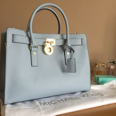 My new baby blue #MichaelKors #Beautiful #Blue #SummerBag #Handbag