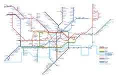This alternative tube map shows how many calories you burn walking between stations