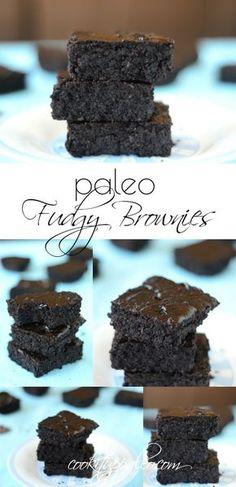 Paleo Fudgy Brownies made with Otto's Naturals Cassava Flour Dessert Sans Gluten, Paleo Dessert, Gluten Free Desserts, Dessert Recipes, Paleo Recipes, Delicious Recipes, Free Recipes, Yummy Food, Fudgy Brownie Recipe
