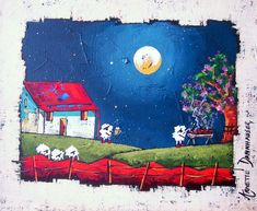 Annette Dannhauser - Braai Night x Art Gallery, Pastel, Artist, Projects, Landscapes, Painting, Night, Kitchen, House