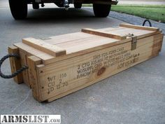 ARMSLIST - For Sale: wooden ammo boxes