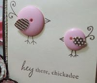 chick buttons... adorable ....great idea to use the button holes as eyes...any other ideas now....I'll have to have a think!!