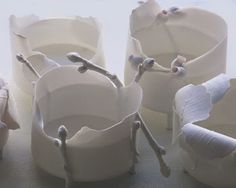 Porcelain as thin and delicate as fallen leaves, the ethereal work of Swedish ceramicist Mia Goransson.